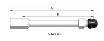 Прямой никелированный жесткий удлинитель S-4517-2